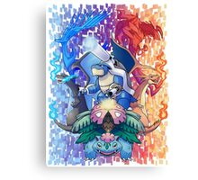Pokemon XY Mega Evolutions Canvas Print