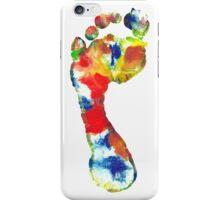Footprint - Color art iPhone Case/Skin