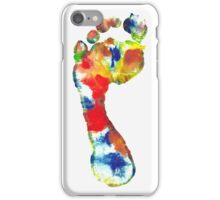 Footprint - Color art iPhone Case/Skin