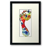 Footprint - Color art Framed Print