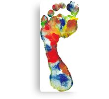 Footprint - Color art Canvas Print