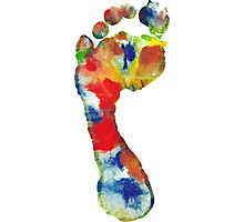 Footprint - Color art Photographic Print