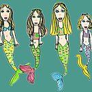 My Girls as Mermaids - Drawn by Tane (8) by micklyn