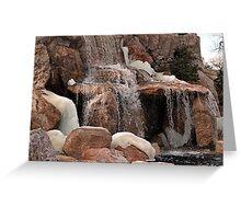Freezing Waterfall Greeting Card