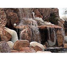 Freezing Waterfall Photographic Print