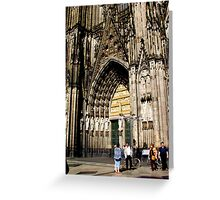 Cologne Cathedral Main Door Greeting Card
