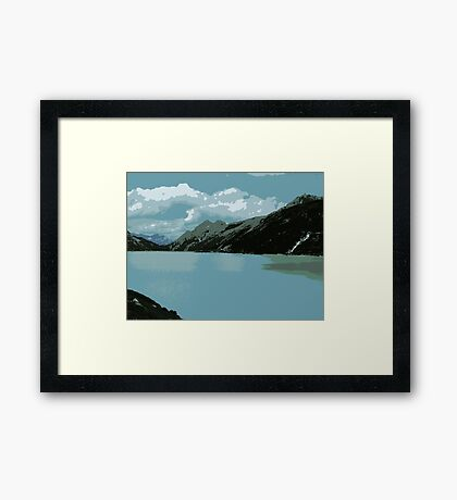 Mighty Mountains of Austria Framed Print