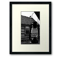 Porch Lantern Framed Print
