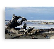 The Waves at Ocean Shores, Washington Canvas Print