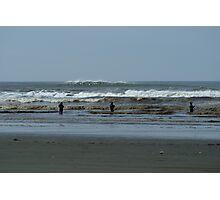 Roosevelt Beach, Washington Fishermen Photographic Print