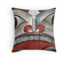Sechelt First Nation Totem Throw Pillow
