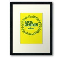 Pawnee Parks and Rec Framed Print