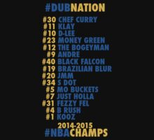 Warriors 2014 - 2015 Nicknames  by ericjohanes