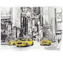 Three Yellow Taxi's Poster
