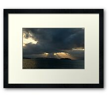 Great Sunset at Sea Framed Print