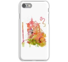Spirited Away Bath House Watercolor iPhone Case/Skin