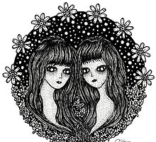 Gemini, the twins by Alabaster-Ink