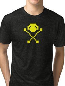 Frogger Skull  Tri-blend T-Shirt