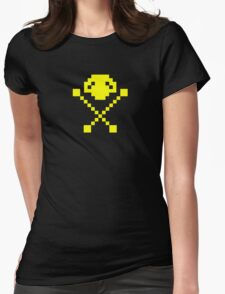 Frogger Skull  Womens Fitted T-Shirt
