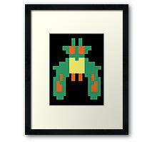 Space Bug Classic 80s Arcade  Framed Print