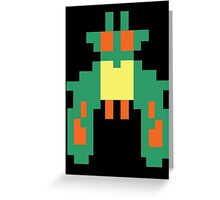 Space Bug Classic 80s Arcade  Greeting Card