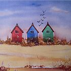 Beach Huts by FrancesArt