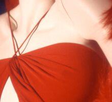 Red Dressed Mannequin Sticker