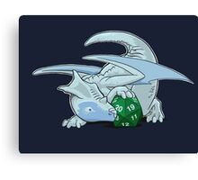 D20 White Dragon Canvas Print