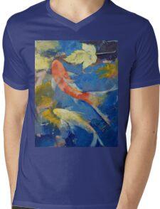 Autumn Koi Garden Mens V-Neck T-Shirt