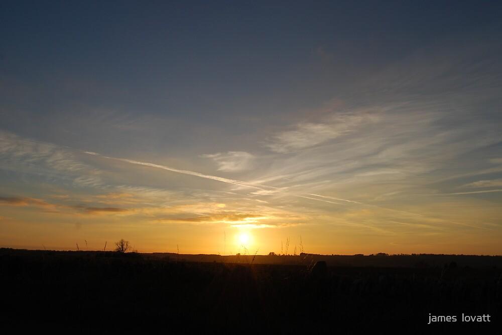 summer sunset , broadway worcs by james  lovatt