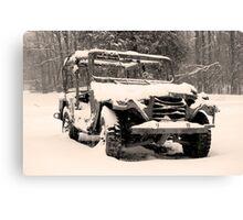 Snow Jeep Canvas Print