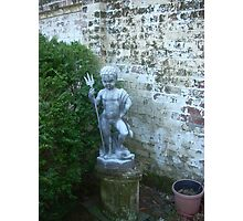 Statue on Side of fountain Photographic Print