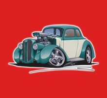 1936 Plymouth Coupe (A) Turquoise One Piece - Short Sleeve