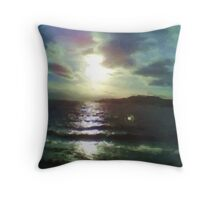 Nature of sea paint Throw Pillow