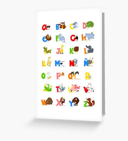ABC (spanish) Greeting Card