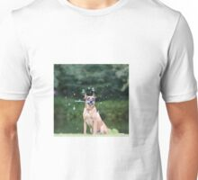 Dog and Bubbles Unisex T-Shirt