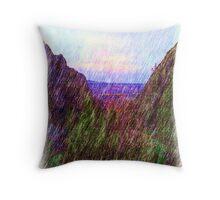 Nature Drawing Throw Pillow