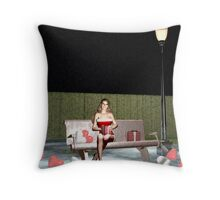 Christmas Carol and Valentine Throw Pillow