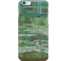 Claude Monet, Artist, Art, Painter, Oil Painting, Canvas, The Japanese Footbridge, 1899 iPhone Case/Skin