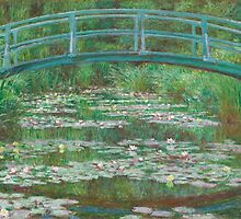 Claude Monet, Artist, Art, Painter, Oil Painting, Canvas, The Japanese Footbridge, 1899 by TOM HILL - Designer
