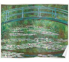 Claude Monet, Artist, Art, Painter, Oil Painting, Canvas, The Japanese Footbridge, 1899 Poster
