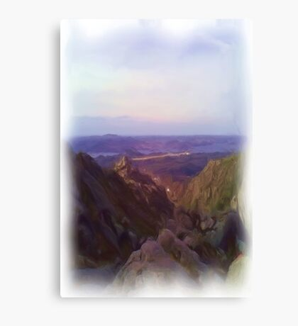Nature and mountain oil paint Canvas Print