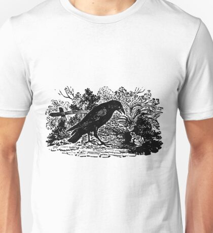 Antique Crow and Frog Aesop's Fable Unisex T-Shirt