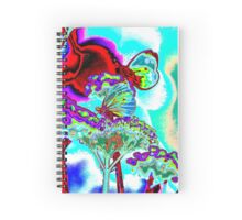 Butterfly on verbena Spiral Notebook