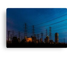 Power up the city Canvas Print