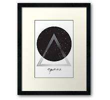 Space Abstract Modern Geometry Framed Print