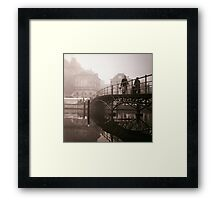 Bridge Through The Mist Framed Print