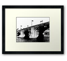 London Bridge Stamp Framed Print