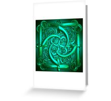 The green sculpture Greeting Card