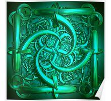 The green sculpture Poster